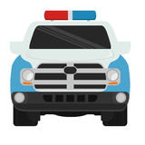 Police car icon. Over white background. colorful design.  illustration Stock Photos