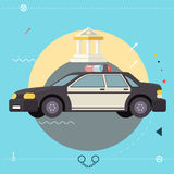 Police Car Icon Symbo Legal Execution of Justice Royalty Free Stock Photos