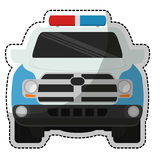 Police car icon Stock Images