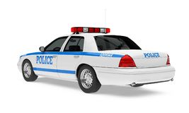 Police Car Isolated. On white background. 3D render Royalty Free Stock Photography