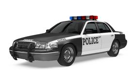 Police Car Isolated. On white background. 3D render Stock Images