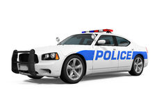 Police Car Isolated Stock Photo