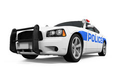 Police Car Isolated Royalty Free Stock Photography