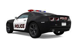 Police Car Isolated Royalty Free Stock Photo