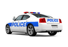 Police Car Isolated Stock Image