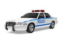 Police Car Isolated. On white background. 3D render Stock Photography