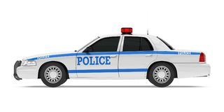 Police Car Isolated. On white background. 3D render Stock Photo