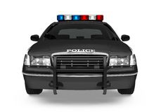 Police Car Isolated. On white background. 3D render Royalty Free Stock Images