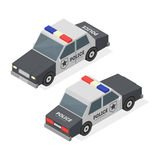 Police Car. Isometric View. Vector Stock Photos