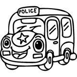 Police car kids coloring page Stock Image