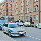 Police car on Kungsholmen in Stockholm Stock Photography