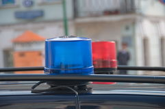 Police car lights Royalty Free Stock Photos
