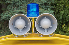 Police car lights Stock Images