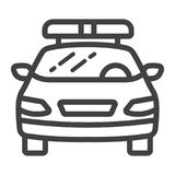 Police car line icon, transport and automobile Stock Photos