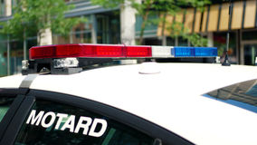 Police car in Montreal, Quebec, Canada stock images