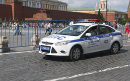 Police car in Moscow Stock Images
