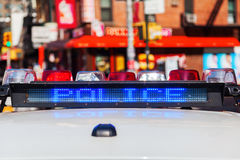Police car in NYC Stock Photos