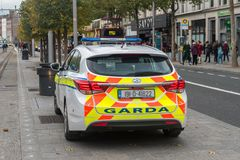 Free Police Car Of The Republic Of Ireland Royalty Free Stock Photography - 167299187
