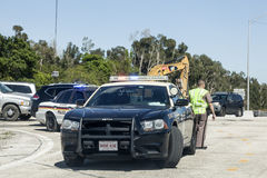 Police car and officer in Florida, USA Royalty Free Stock Photography