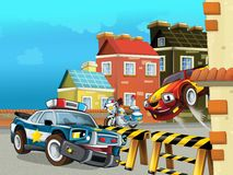 The police car officers Royalty Free Stock Image