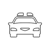 Police car outline icon. Linear vector illustration Royalty Free Stock Photography