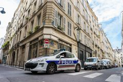 Police car in Paris Royalty Free Stock Photos