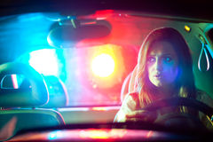 Police car in pursuit Royalty Free Stock Image