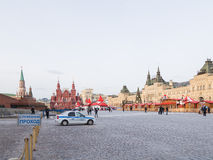 Police car on the Red Square Royalty Free Stock Photography