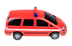 Police car red toy Stock Photo