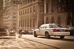 Police car riding in New York Stock Photos