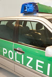Police car on the road, patrol car. Germany police car, patrol in the city Stock Photography