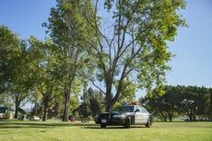 Police car at Santa Fe Dam Recreation Area Royalty Free Stock Photo