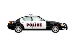 Police Car in Simple Cartoon Design. Speed Vehicle Royalty Free Stock Images