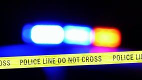 Police car with siren, Defocused stock video footage