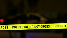 Police car with siren, Defocused stock footage