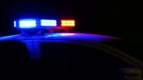 Police car siren flashing, stock video footage