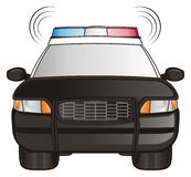 Police car with sirens Stock Image