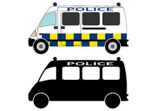 Police car 3. Small and large police cars from different parts of the world, mainly Europe Royalty Free Stock Image
