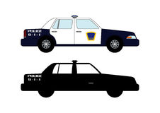 Police car 2. Small and large police cars from different parts of the world, mainly Europe Royalty Free Stock Photos