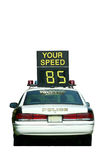 Police Car Speed Check Royalty Free Stock Image