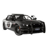 Police car. Sport and modern style. Isolated on white 3D Illustration. Police car. Sport and modern style. Isolated on white background 3D Illustration Royalty Free Stock Images