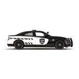Police car. Sport and modern style. Isolated on white 3D Illustration. Police car. Sport and modern style. Isolated on white background 3D Illustration Royalty Free Stock Photo