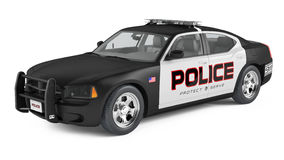 Police car. Sport and modern style. Royalty Free Stock Photography