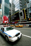 Police car is standing on the Times Square Royalty Free Stock Images