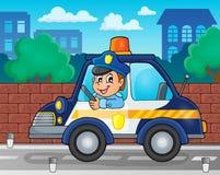 Police car theme image 2 Stock Image