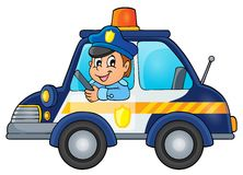 Police car theme image 1 Stock Images