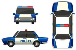 Police car in three different angles Royalty Free Stock Image