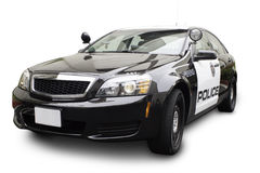 Police Car at Three Quarter Angle Royalty Free Stock Photo