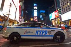 Police car at Times Square at night Royalty Free Stock Photo