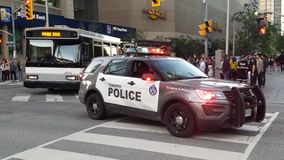 Police car in Toronto royalty free stock image